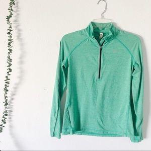 Lorna James Active Green Quarter Zip Long Sleeve
